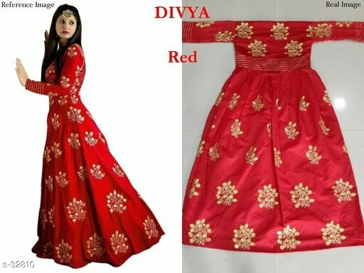 Special Designs in Suits! Feel Beautiful in These!  Catalog Name: Divya Colors  Fabric: Top - Tapata Silk, Inner - Silk  Size: Top - Upto 34in to 44in, Inner - Attach With Top  Type: Semi Stitched  Length:  52in  Sleeves: Sleeves Are Included  Work: Printed  Dispatch: 2 - 3 Days  Designs: 6  shipping extra