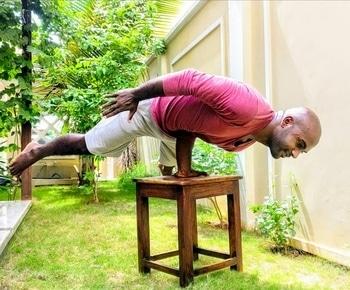 #yoga #yogapose #mayurasana #armbalance