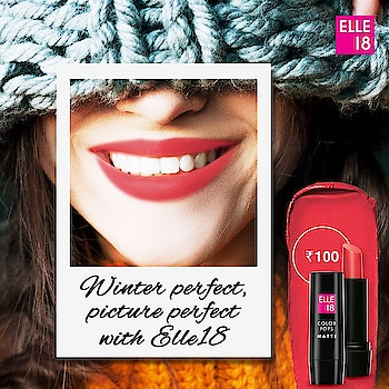 Get that perfect smile with Elle 18! #Perfect #Winter #elle18 #lipstick