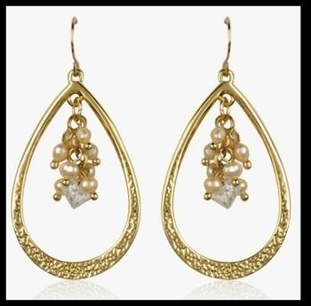 Nice pearl drop danglers Price@ 499 Free shipping in india