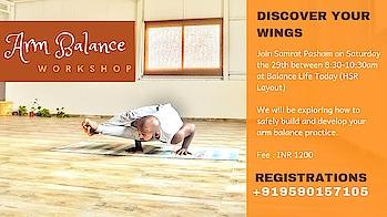2 More Days to Go  . . Arm Balance Workshop - Balance Life Yoga (HSR Layout) . . Register Today  . . . #armbalance #armbalanceworkshop #yogaworkshop #yogastrong #yoga4roposo #yogaeveryday #yogalove #yogainspiration #getstrong