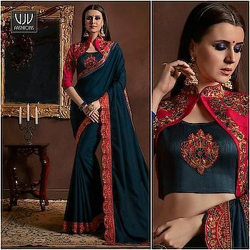 Buy Now @ https://goo.gl/vM12Nm  Royal Navy Blue Border Work Half And HAlf Saree  Fabric- Art slik  Product No 👉 VJV-KESS8508  @ www.vjvfashions.com  #saree #sarees #indianwear #indianwedding #fashion #fashions #trends #cultures #india #instagood #weddingwear #designer #ethnics #clothes #glamorous #indian #beautifulsaree #beautiful #lehengasaree #lehenga #indiansaree #vjvfashions #pretty #celebrity #bridal #sari #style #stylish #bollywood #vjvfashions