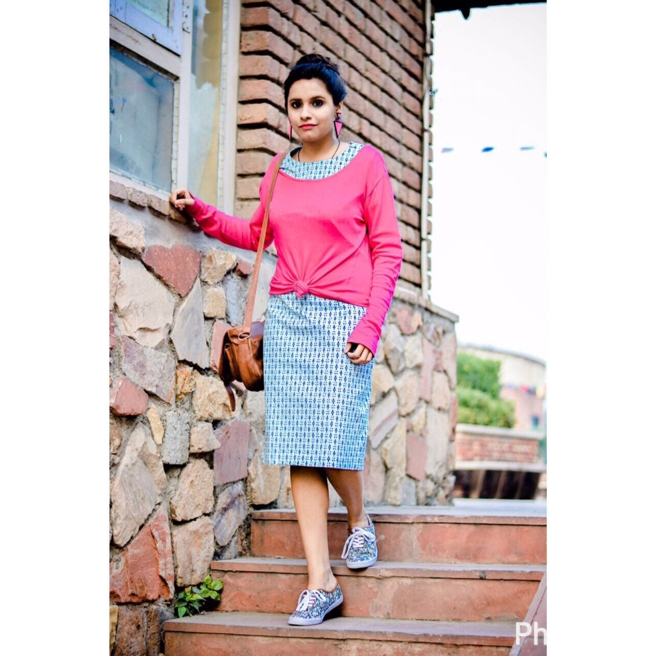 Shoes: @paylessshoesourceindia, super comfortable & slaying in floral prints!  Dress: @vajor, loving the print and how well it goes with whole look Earrings: @sugarbox_india, absolutely fav  Top: @maxfashionindia, such vibrant vibes  Bag: Sarojini nagar, great deals always. . . . 📷- @effervescence_photoshoots . . #thestylecheck  #styleblogger #fashionblog #styling  #rfr  #fashiongram #stylist #nature #whatiwore  #fashionista  #indianblogger #fashionista #streetstyle #ootd #ootdshar #crazemag  #personalstyle #indianfashion #sdmdaily