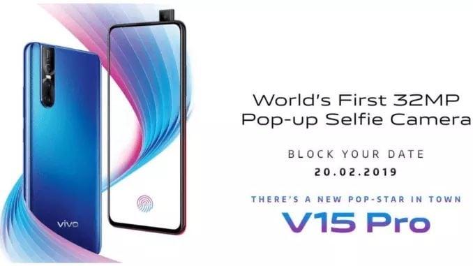 #VivoV15Pro Teased with 32MP Pop-up Selfie Camera, In-Display FPS & AI Triple Cameras   Read More: vivo-v15-pro-teased-with-32mp-pop-up-selfie-camera-in-display-fps-ai-triple-cameras/