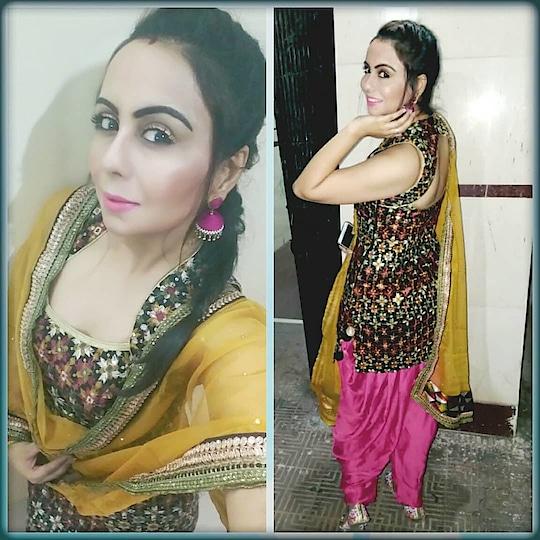Celebration of Guru Gobind Singh ji Jayanti🙏 and Lohri Festival🔥  WHICH LOOK YOU LIKE THE MOST? DO LET ME KNOW IN THE COMMENT SECTION 😊  Two different looks :- First one is Punjabi Mutiyaran look ,Phulkari kurta, Patiyala Salwar, jhumka, khajuri Braid and Punjabi Jutti ❤  Second look -: Simple Cute look,  Long kurti with Pink chudidar and Pink Bandhej dupatta, open hair and minimal makeup❤  #celebration 🎉#festival  #festivevibes #gurupurab  #lohri #happieness 😍 #peace  #lookoftheday  #phulkari  #phulkarikurta #patiyalasalwar  #punjabijutti 👠💖 #jhumkas  #khajurigutt #punjaban  #punjabimutiyaar  #punjabigirl  #longkurtistyle  #pinkchudidar #pinkdupatta  #cutelook  #minimalmakeuplook  #openhairstyling #bandhanidupatta  #daywithsmile #indianstyleblogger  #loveforethnic  #fashionistagram