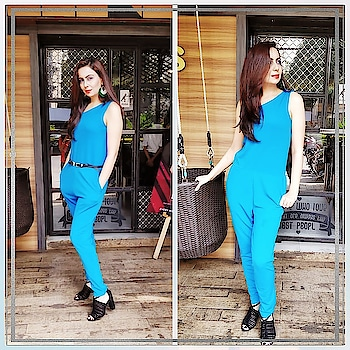A LUNCH DATE❤ Than there is nothing better than having a Piece in Your Wardrobe that you can just put on quickly and be confident that it works👍.A Jumpsuit Is Just That Piece👚 Disclaimer -: Style it With Or Without Belt, upto Your choice and comfort, But Just be sure whatever you do it shul be standout and for the complete look match your footwears with the belt 👠. Jumpsuit from @ajiolife  #jumpsuit  #footwear  #belt  #lunchdate  #jumpsuitlover  #confidentclothing #stylingtips  #ajio  #bluejumpsuit #blackheels 👠 #blackbelt  #wardrobe  #wardrobestyling  #fashionblogger  #fashiontips