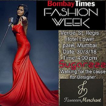I am going to be there tomorrow @stregismumbai for the #bombaytimesfashionweek with @tasneem_merchant are you coming? #Sugarzzz #style #sweet #invite #fashiondesigner #fashion #bombaytimes #trending #fashionshow #mumbai #stregis #singer #entrepreneur #womenempowerment