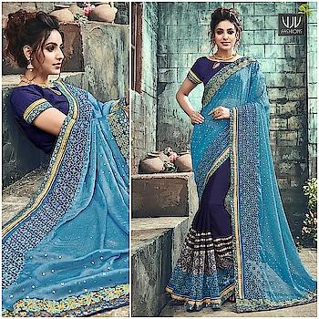 Buy Now @ https://goo.gl/7ZVPhp  Delightful Blue Color Chiffon Designer Half N Half Saree  Fabric- Chiffon  Product No 👉 VJV-ROYK30262  @ www.vjvfashions.com  #saree #sarees #indianwear #indianwedding #fashion #fashions #trends #cultures #india #instagood #weddingwear #designer #ethnics #clothes #glamorous #indian #beautifulsaree #beautiful #lehengasaree #lehenga #indiansaree #vjvfashions #pretty #celebrity #bridal #sari #style #stylish #bollywood #vjvfashions