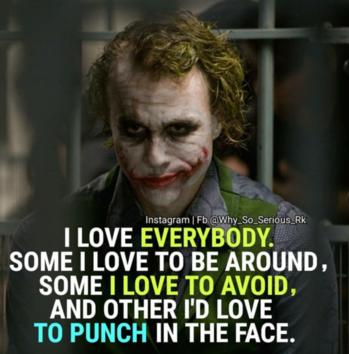 #joker #love #self-love #roposo #dailypic #dailypost #quotes #world #indian #hyderabad #usa #la #followus #ropo-daily