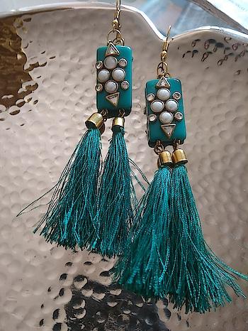 #earrings #tasselearrings #beads