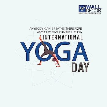 #yoga #fitness #meditation #yogaday #world #international #helth #india #Walldecor #Acpsheet #aluminiumcomposite