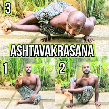 Ashtavakrasana or eight angle pose is a wonderful armbalance that builds strength and develops an appreciation for finding balance in the oddest orientations. . . . Challenge yourself this weekend 🙏 . . #yoga #weekendyoga #roposotalenthunt #yogachallenge #yogainspiration #yogaposes #yogaeverywhere #yogateacher #fitnesstips