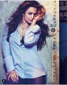 Amrita Arora Ladak on Hi Blitz. Shirt-Lee Cooper Lingerie-Hunkemoller Boots-Schutz Jewelery-Narayan J&K Chokshi Makeup & Hair-Mehak Oberoi Photographed by-Abheet Gidwani