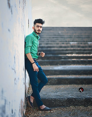 Strive for progress not perfection . . . . #kartavyamakwana #fashion #fashionmodel #formals #greenshirt #blogpost #blogger #indianblogger #suratblogger #suratinfluencer #menswear #menstyling #hairstylesformen #style #trend #fashionpost #fashionista #influencer #ootd #menfashionpost #combination #malemodel #instastyle #instagram #potraits #leaf