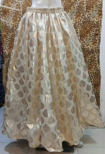 Silk #skirt with golden print with linning   free size fit upto 30 to 40 waist   price 600 shipping free alifya170110