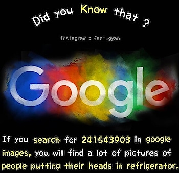 Follow 💯@fact_gyan  Tag someone who should know this ❤️ . #google #fridge #head #googlefacts #search #scifi #fact #gyan #fact_gyan #didyouknow #that #knowledge #like4follow #instafact #factopedia #gyanopedia #insta #top #trend #trending #instagram #omg #instadaily #followforfollow #instagood