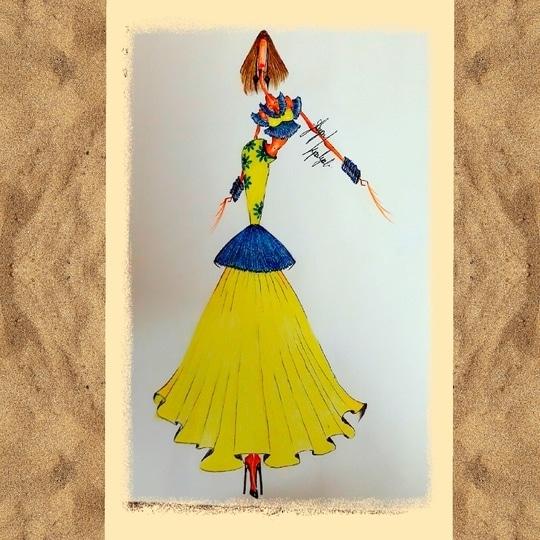 fashion illustration  #indianwear  #ethniclook  #ethnicwear