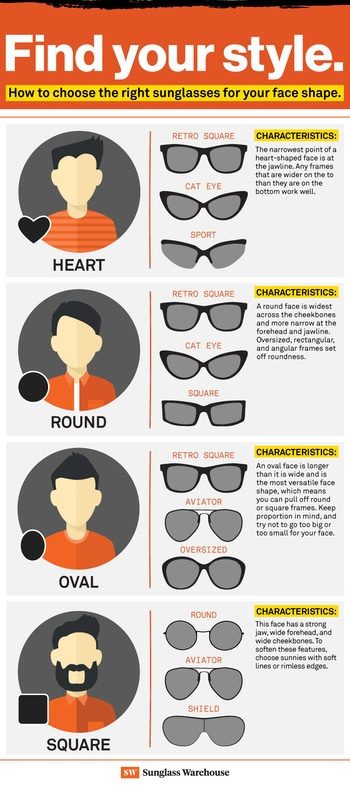 """Evening peeps !!! 🙌   """" Choosing the best sunglasses for ur face shape """" 😎😎😎  ☝Picking out the ideal sunglasses for your face shape isn't as easy as you might think.  ✌ There are frames that work to set off your killer features, and there are frames that… don't.  So how do you know which shades are right for you?😓😓😓   *** First, you'll need to figure out whether your face is round, oval, heart, or square.  *** Once you've found your face shape, then you can begin picking sunglasses that will complement your features.  Lucky for you, we made a guide.👇  *** Read on to find theperfect pair of sunglasses for your face shape    🙌 Now that you've found your face shape, it's time to start shopping for your perfect shades.... 😎 happy shopping !! 👓   #stylestatement #sunglassesamust #dowearit #roposo-style #fashiondiaries #keepshopping #keeploving #keepsupporting  #staytunedformoreupdates #itsmetanupiee ❤✌"""