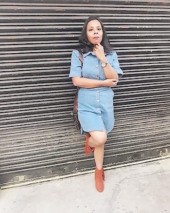 I can be understood but can't be described... Very much in love with this denim shirt dress from www.faballey.com @fab_alley  Tan Tassel boots from www.myntra.com by Truffle collection India... . . . #fashion #blogger #fashionblogger #roposoblogger #roposofashionblogger #roposo-style #roposo #roposolove #roposofashiondiares #fashionista #roposofashionista  #roposofashion #bloggerstyle #bloggerbabe #roposoblogging #styleblogger #india #shirtdress #denimlook