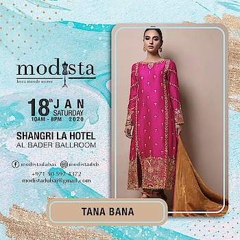 Shop this look by Tana Bana at The Party Edit on Sat 18th Jan , Shangrila Hotel, Dubai from 10am to 8pm🌟🌟 . #Modista #modistarocks #Modistadxb   #gettingready #almosttime #shopping #shoppingevent #exhibition #kumuddesigns #shoppingtime #westernwear #indian #lifestyle #exhibitions #mydubai #dubaifashion #onedayonly #dubaifashionbloggers