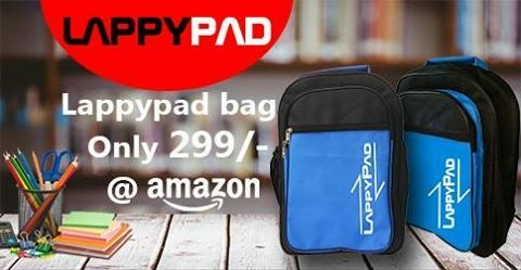Multipurpose Lappypad Branded Bag For School and College Students at a throwaway price of just 229/- INR #lappypad also visit amazon.in www.lappypad.com