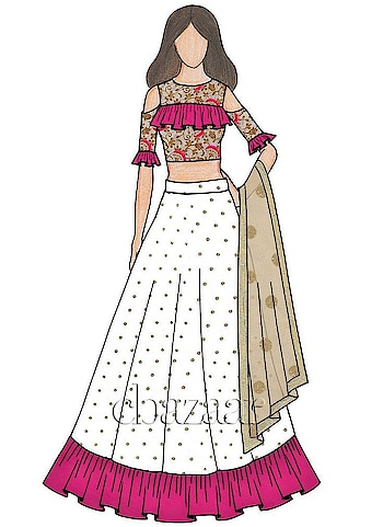 designer #fashionpost #designer #wear #fashiondesigner #lehengasuit #illustration