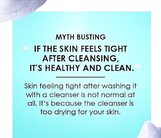 It's not right for your skin to feel tight. #Skincare #beautycare #skin