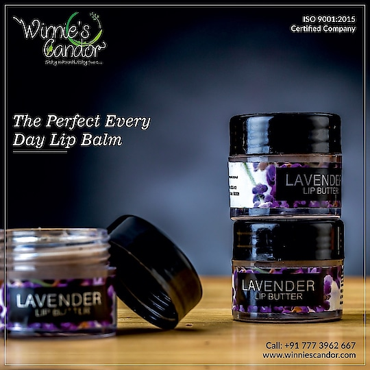 Carry this in your purse and say goodbye to all your lip-worries! The lavender works perfectly to soften and smoothen your precious lips. #WinniesCandor #LavenderLipBalm #Natural #Pure #UseEveryday #BuyNow