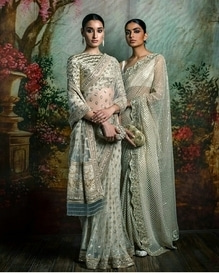 Sabyasachi designed saree. Best for the upcoming summer wedding parties.