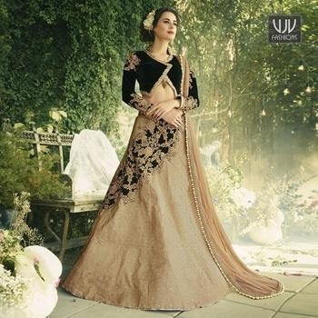 Buy Now @ https://goo.gl/pgaNRR  Amazing Beige Color Velvet A Line Lehenga  Fabric- Art Silk  Product No 👉 VJV-VRIT401  @ www.vjvfashions.com  #chaniyacholi #ghagracholi #indianwear #indianwedding #fashion #fashions #trends #cultures #india #womenwear #weddingwear #ethnics #clothes #clothing #indian #beautiful #lehengasaree #lehenga #indiansaree #vjvfashions #bridalwear #bridal #indiandesigner #style #stylish #bollywood #kollywood #celebrity #outfits #vjvfashions #lehengas