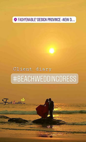 Our #FashEnable client lovely Kajal flaunting #redgown on her very special day!! ❤💗 We wish you a very happy and blessed married life!!! 😘✨🎉💐 #sunset #beachwedding #beaches #reddress #weddingfashion #weddingdress #weddingtrousseau #weddingdesigner #indianwedding #Indianbride #beachweddingdresses #beachweddingphoto #stylecheck #fashion #custommade #bespoke #orderonline DM for inquiry ❤