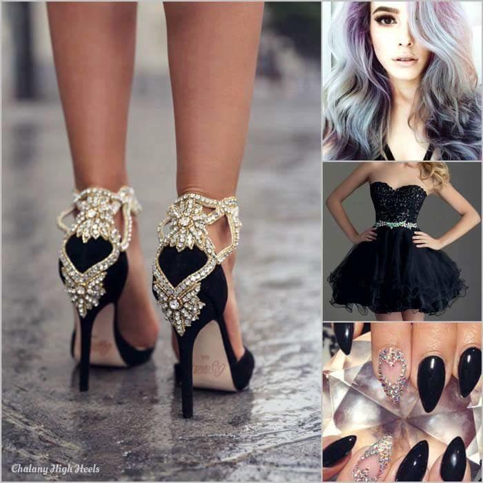 #blacknblack#onlythosewholikeblackvery much#blackdress#blackfootwears#blacknailart#widmatchinghairstyle#