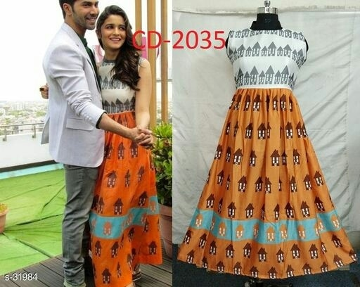 Rocking Designs in Trendy Kurtis! Feel Like a Princess!  Catalog Name: Diamond Kurtis Vol 4  Fabric: German Slub Cotton  Size: L - 40in, XL - 42in, XXL - 44in  Length: 48in  Sleeves: Sleeves Are Included  Type: Stitched  Work: Printing  Dispatch: 2 - 3 Days  Designs: 9 shipping extra