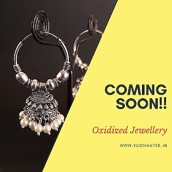 """Coming Soon....."" OXIDIZED JEWELLERY  Celebrate Diwali 2018 with our new collection of Oxidized Jewellery.  #KuchHatke #KuchHatkejewellerystore #KuchHatkeoxydizedjewellery #KuchHatkeonlineshoppingstore #onlinejewellerystore #onlineshoppingstore #oxidizedjewelry #oxidizedearrings #oxidizednecklace #diwali2018 #newcollection #festivecollection #diwalicollection #loveforoxidizedjewellery #beautifulearrings #india #newstyle #jewellerystore #shopaholics #shoponline"