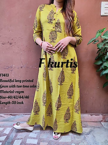 *F1417*  _*Beautiful long 2 peice dress Of kurti and skirt With 6 mtr flair in skirt_*  Material-rayon with gotta  Detailing  Size-38/40/42/44 Skirt with elastic Price-₹1595 free ship  Ready to despatch 💕   Direct Message us or whatsapp on 9867764381   Follow us 👉🏻on FB:  *https://www.facebook.com/Stylista-Fashionss-2137660539847810/*  #stylistafashionss #style #fashion #trend #readysuit #dressmaterial #ethnic #western #fashionjewellery  #handbags #kurti #botttomwear #onestop #shopping #saree #readymadeblouse #lookstylish #bethefashion #shopstylistafashionss #onlineshopping #bestquality #bestprice #bestbuy #swag