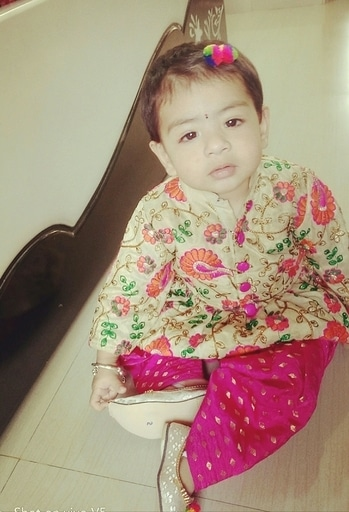 traditional love#patiala suit# baby girl#11 months#cutie#maahi🤗