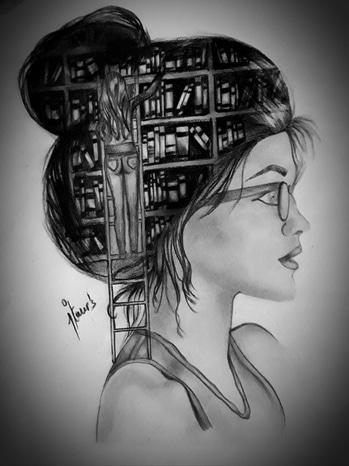 never ending thoughts.. #roposotalenthunt  #illustration #illustrator #sketch #charcoal #black