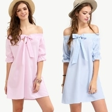 Pink Or Blue!?🤗 Bow Off Shoulder Shift Dress💝 Shop Now || Limited Stocks  #tc5clothingco #pinkdress #bluedress #summer17🌴 #newcollection #trendy #fashionably #onlineshopping