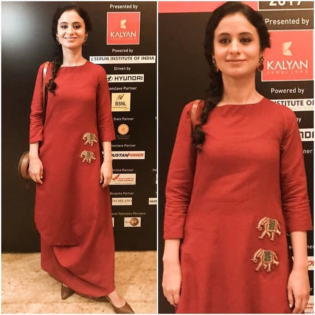 At the #indiatodayconclave17  for 'Life support' directed by Sudhir Mishra Outfit: @purvi.doshi  Styled by : @theglobalflea HMU : @piyupalkar  Jewellery from @aquamarine_jewellery #gucgladucame #conclave17 #Lifesupport #shortfilm