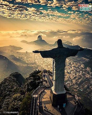 Christ the redeemer view ✨ Rio de Janeiro, Brazil #almostweekend