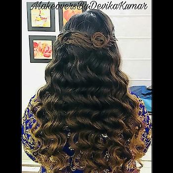 ✨Waves & Braid Hairdo For Gayatri For Sangeet Ceremony✨ HAIR By - @devkumarhairstylist  MAKEUP By - @makeoversbydevikakumar  #hairgoals #hairart #hairstyles #hairartistry #fabhair #followforfollow  #like4like  #makeoversbydevikakumar #roposohair