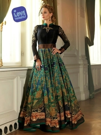 Designer Anarkali Gown single pieces available. Buy direct from manufacturer whatsaap me at +91-9782907350 #loveyourself