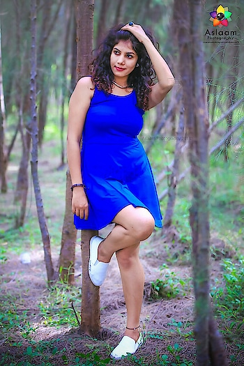 #ropo-style ##bluedress #natureslove #forests #explorer #onepiecedress #blue-coloured #blue-green #curlshair #fashionables #fashionbaby #youtuber #teluguactress #tamilactress #chennaimodels #fashionshoot #glamourshoot #ootding #outfit #cuteness-overloaded