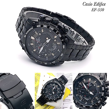 ✨Ready To ship *Casio Edifice Ef-550Bk* & Same Day Dispatch✨   # Casio Edifice # Originals # Model-EF550BK # 7A Quality  # For Men # Feature:- *Guaranteed Japanese quartz machinery, working chronograph and sub dials, black metal based case and bezel, steel caseback & edifice lock)*  ❤(Including Casio Edifice *Original Box)❤*  Available *@ Rs 2650 free Shipping  to buy send watsaap on 9999142594  #roposo #roposo-style #so-ro-po-so #fashion #instadaily #watchesformen #casiowatch #casioedifice