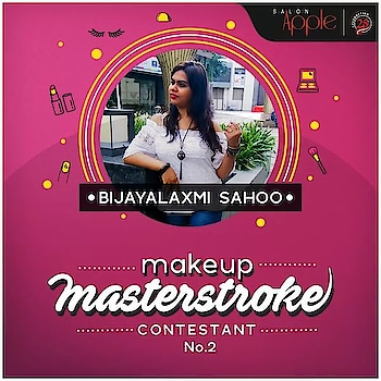 #salonapple #makeupmasterstroke #prachichopde #bijayalaxmisahoo #contest #makeupartist #makeupbyme #achievement #bigdream #smallbaby #steps #loveformakeup #makeupmadness