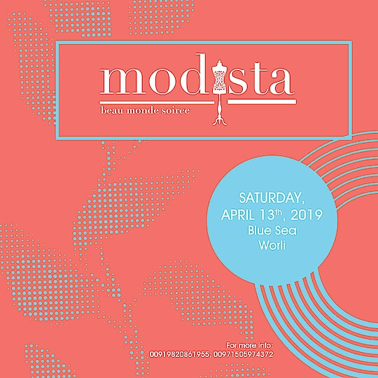 Elegance never goes out of style! Modista unveil yet another exclusive and stunning lifestyle exhibition in your city with magnificent and classy selection of couture, accessories and home décor. We are back with one stop designer wear and decor solutions at Blue Sea Catering and Banquets, Worli, Mumbai, on 13th April.