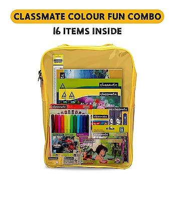 #onlineshopping Classmate Stationery Kit Bag - Drawing Book, Sketch Pen, Oil Pastel, Eraser, Crayons, Notebook, Scale, Sharpener, Octane Colour Burst Pen, Mechanical Pencil, Octane Glide Ball Pen, Scrapbook https://ekaro.in/enkr2020070843118592