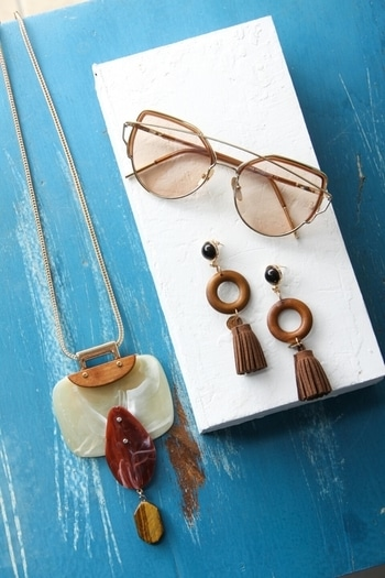 Accessories that will bring out your boho side!  Shop accessories http://bit.ly/2sWyxpO #accessories #bohofashion #bohostyle #sunglasses #earrings #necklaces #womensonlineshopping #womensclothing #womenfashion #fashion #vajor #vajorsummercollection