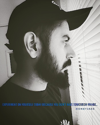 Keep experimenting yourself, maybe one day you found another you. ________________________ #like#share#comments#likeme#followme#happiness#love#humanity#serious#life#quotes#yourquotes#englishquotes#motivation#experiment#style#fashion#beards#mustaches#yqbaba