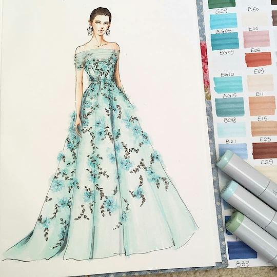 green dress #designer